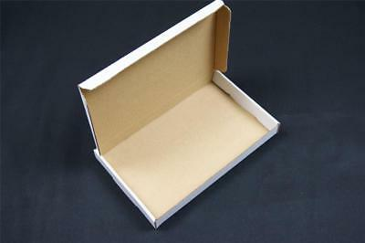 1000 White Postal Cardboard Boxes Mailing Shipping Cartons Large Letter OP1