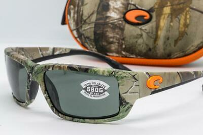 COSTA DEL MAR FANTAIL SUNGLASSES Realtree Xtra Camo frame / Grey 580G Glass (Costa Del Mar Fantail Sunglasses)