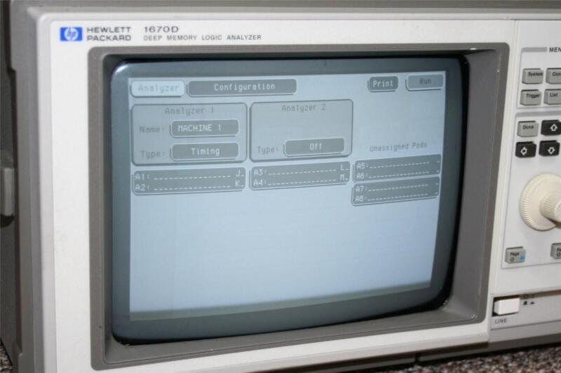 HP 1670D Deep Memory Logic Analyzer