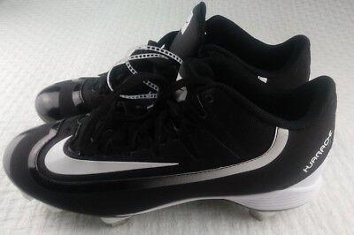 new product cc55b a0968 Nike BSBL Huarache Black White Size 8 Metal Baseball Cleats