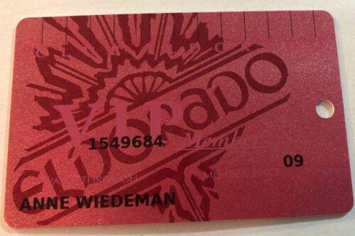 EL DORADO Reno Hotel Casino Level: Red VIP Casino Players Slot Card