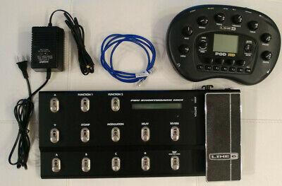 Line 6 Pod HD Desktop-Guitar Multi-Effects Processor w/foot controller mint!