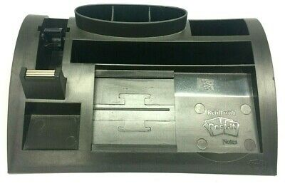 3m C-61 Vintage Desk Organizer Black Post It Notes Tape Pens And Storage 1990s