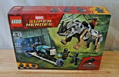 Lego Set 76099 Marvel Super Heroes Black Panther Rhino Face-Off By The Mine*NEW*