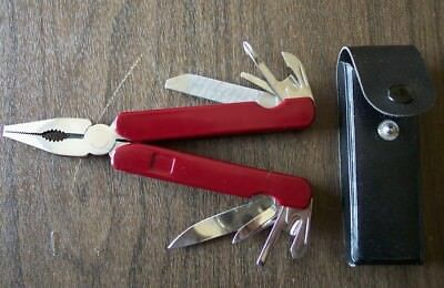Generic Multi-Tool with Leather Sheath New