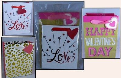 Valentines Day Variety Pack of 3 Small Gift Bags Love Gold Cheetah Happy](Valentines Day Gift Bags)