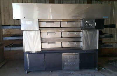 Huge 3 Deck Triple Stack Electric Conveyor Pizza Pride Oven By Randell W Hood