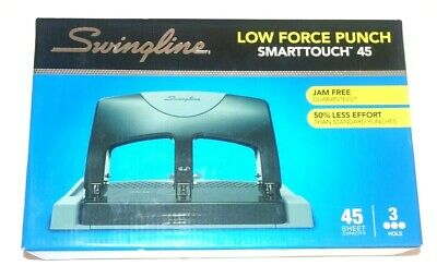 Swingline Smarttouch 45 3-hole Low Force Punch 45 Sheet Capacity