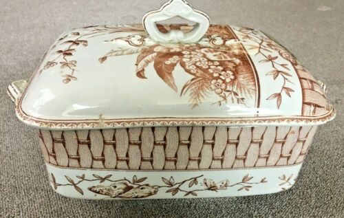 "Unique G. W. Turner & Son ""Brazil"" pattern transferware tureen"