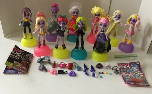 CAPSULE CHIX - Lot of 10 Dolls Plus Accessories & Stands