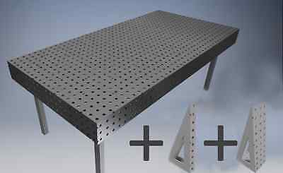 ---- Plans Welding Bench Table Fixture Jig Dxf File 24in X 72in Holes 16mm ----