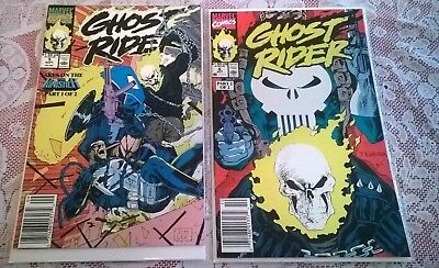 Ghost Rider #5 & #6 NM/NM+ Punisher Appearance Marvel Comics 1990 (Ghost 5)