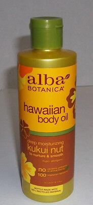 Hawaiian Kukui Nut Organic Massage Oil 8.5 oz,Alba Botanica,rough,dry,flaky skin