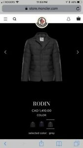 Moncler Rodin, Man, Overcoats, Grey, Size 4, 100% Wool