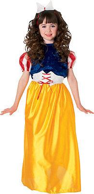 Girls Snow White Costume Child Princess Long Fancy Dress Kids Purim Halloween - Princess Halloween Costumes