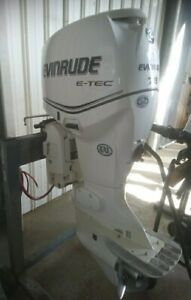 Evinrude Etec 75hp Long Shaft Outboard Ex Cond