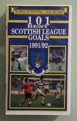 football  101 BEST SCOTTISH LEAGUE GOALS 1991/92  VHS