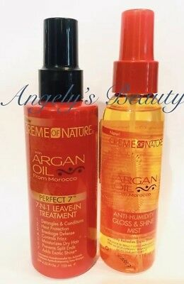 2 PK!Creme Of Nature Argan Oil  Moroco Oil Heat protect & Treat  Argan perfect