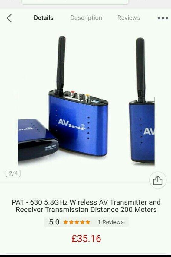 Wireless AV transmitter and receiver