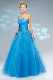 STUNNING TURQUOISE PROM/BRIDESMAID/SPECIAL OCCASION PARTY DRESS