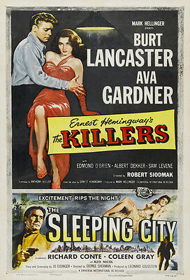 THE KILLERS Movie POSTER 27x40 D Edmond O'Brien Albert Dekker Ava Gardner Burt