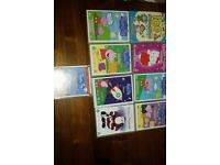 11 x dvds mostly peppa pig, hello kitty, nursery rhymes, santa cartoon