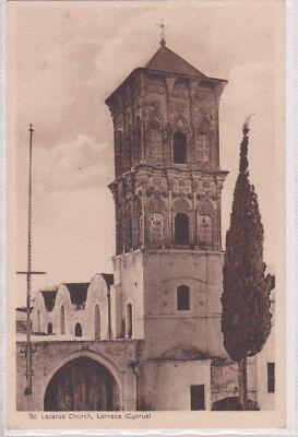 CYPRUS POSTCARD LARNACA SAINT LAZARUS CHURCH MANGOIAN LATE 1920 s