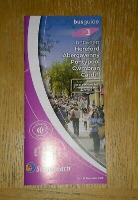 Stagecoach in South Wales X3 timetable and Abergavenny Bus Guide Nov 2018...