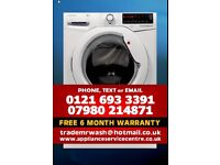 HOOVER DXA610A WASHING MACHINE WITH FREE 6 MONTH WARRANTY