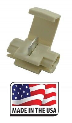 100 QUICK SPLICE SCOTCH LOCK CONNECTOR 18-14 TAN ELECTRICAL MADE IN USA
