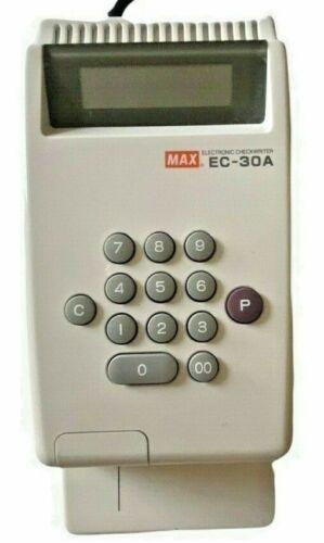 MAX Co. LTD. Model EC-30A 10-Digit Print Electronic Checkwriter