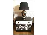 Stunning Shabby Chic Black White Chest of Drawers - free Delivery