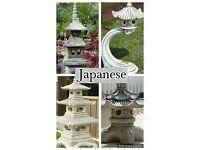 Japanese style concrete ornaments