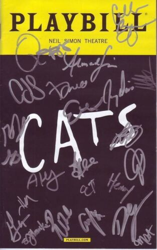 Cats Signed Autographed Cast Playbill