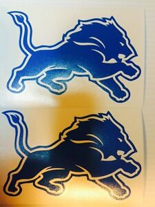 Detroit Lions Decal 2-pack **FREE SHIPPING**