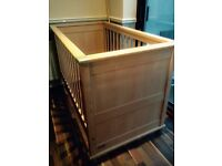 Lovely Modensa Nursery Set (cot-bed, chest of drawers / miniature wardrobe unit, miniature bookcase)