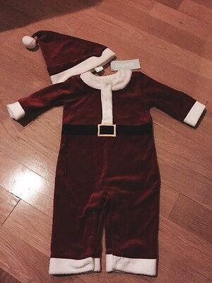 Gymboree Santa Claus Shop Halloween Baby Outfit Size 3-6 Months Hat - Baby Halloween Outfits 3-6 Months