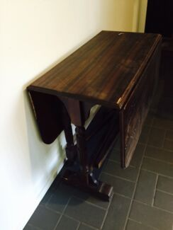 Antique carved fold down table Frenchs Forest Warringah Area Preview