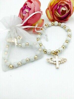 24First Communion Party Favors Baptism Bracelets Recuerdos De Bautizo White BAGS](Communion Party Bags)