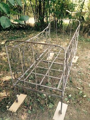 Antique French Wrought Iron Cot