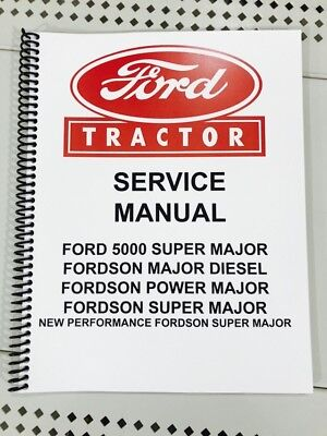 Fordson Major Diesel Technical Service Shop Repair Manual Tractor Book