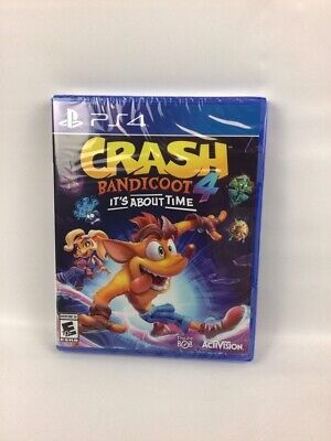 NEW Sealed - Crash Bandicoot 4 It's About Time (Sony Playstation 4, PS4)