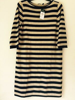 Lauren Ralph Lauren Striped Metallic Sweater Dress. Size XL. $135.00