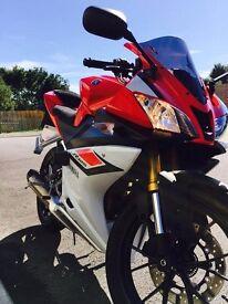 Yamaha yzf r125 2015, loads of extras, akrapovic exhaust