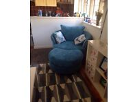 Brand new DFS Capulet Swivel Chair and Foot Stool