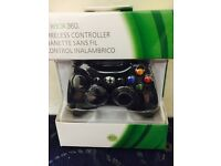 Brand new Xbox 360 Black Wireless Controller ( not for Xbox one or PS4 )