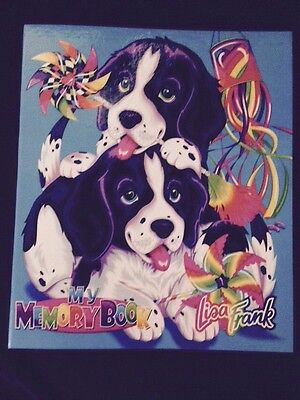 Vtg Lisa Frank 3 ring Binder My Memory Book Note puppy puppies dog Violet Velvet