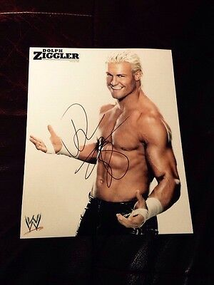 wwe dolph ziggler signed autographed 8x10 photo rare proof