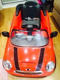 Mini Cooper Electric Car Red 6V