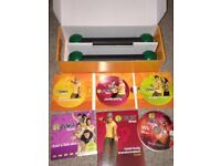 Zumba Fitness exercise DVDs, 6 workouts, bonus Wii disc, plus toning sticks